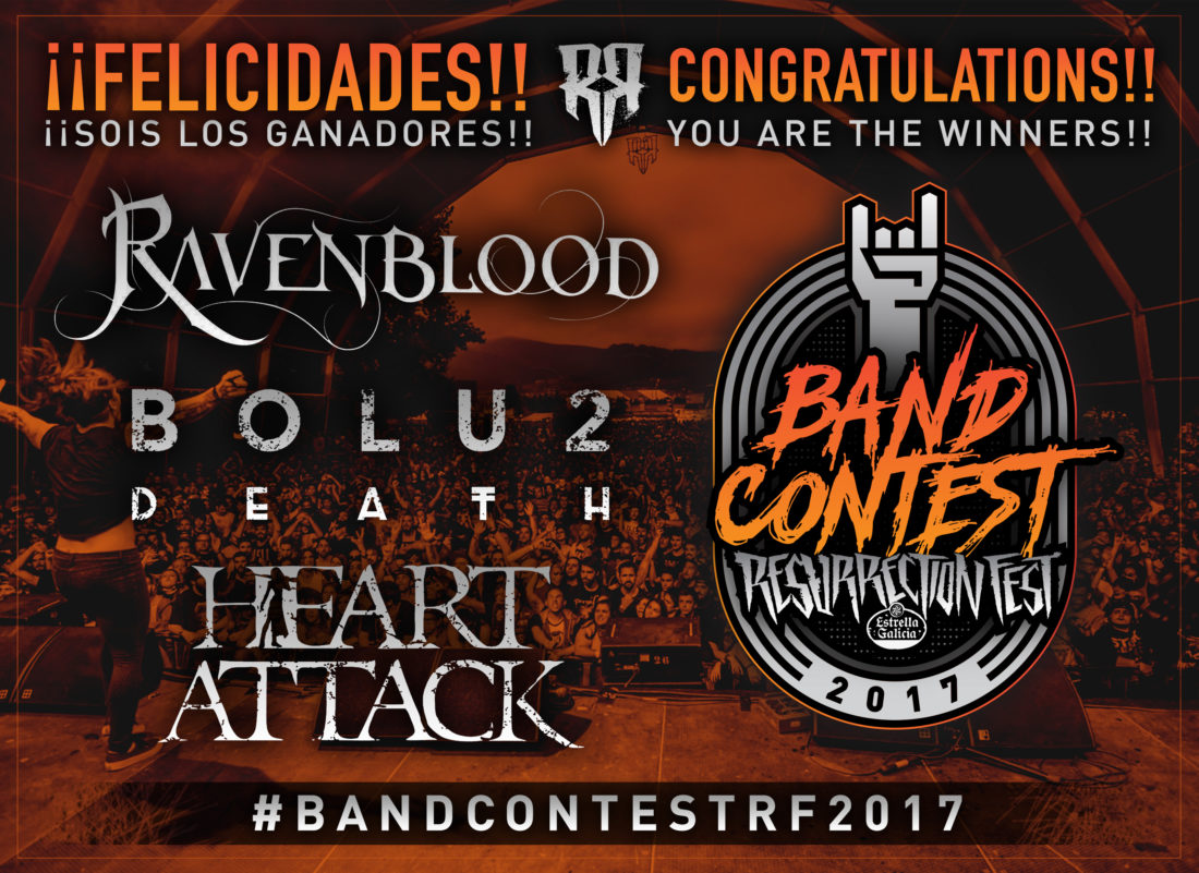 Winners of our Resurrection Fest Band Contest 2017