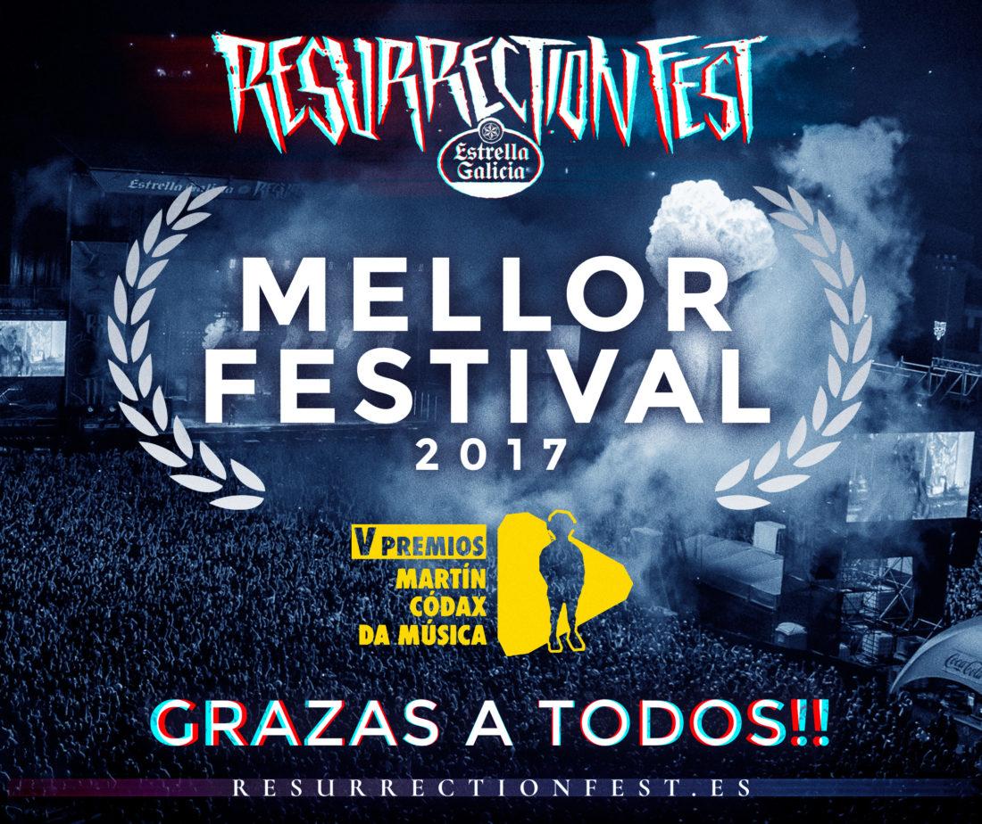 Resurrection Fest Estrella Galicia, mejor festival de 2017 en los Premios Martín Códax de la Música