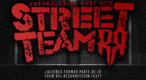 ¡Abrimos inscripciones para el Resurrection Fest Street Team 2017!