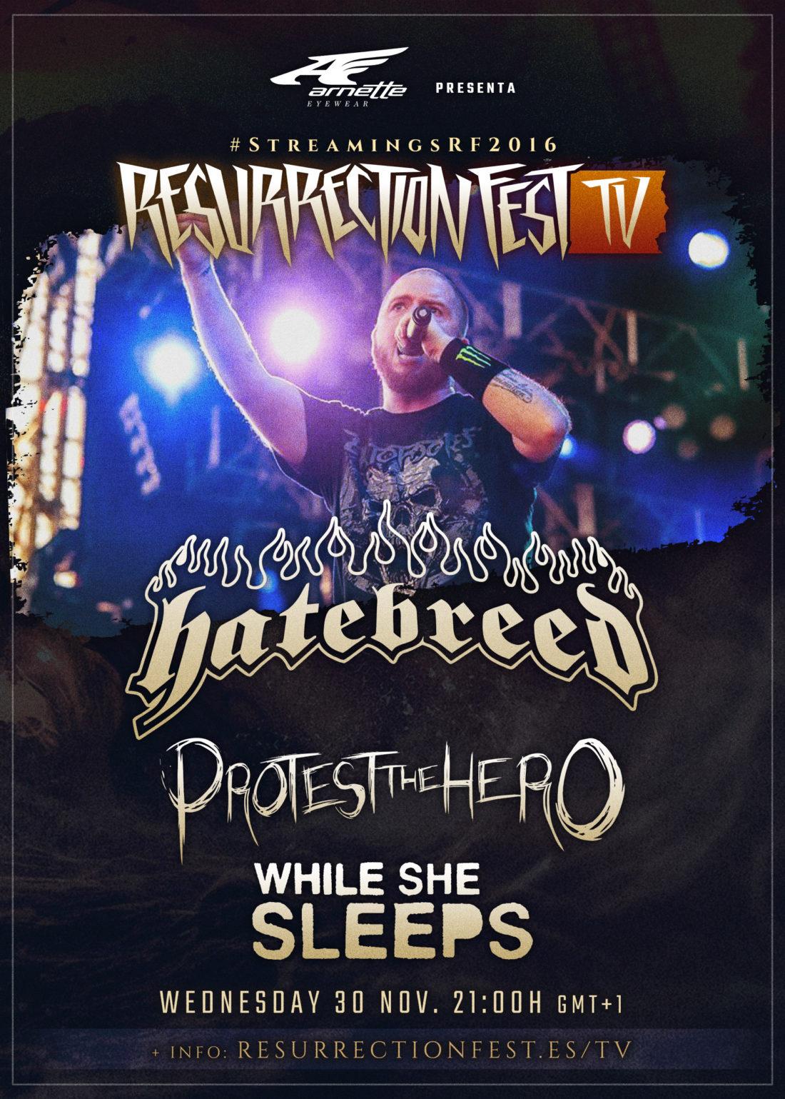 Primeros conciertos en streaming en nuestra Resurrection Fest TV: Hatebreed, Protest The Hero y While She Sleeps