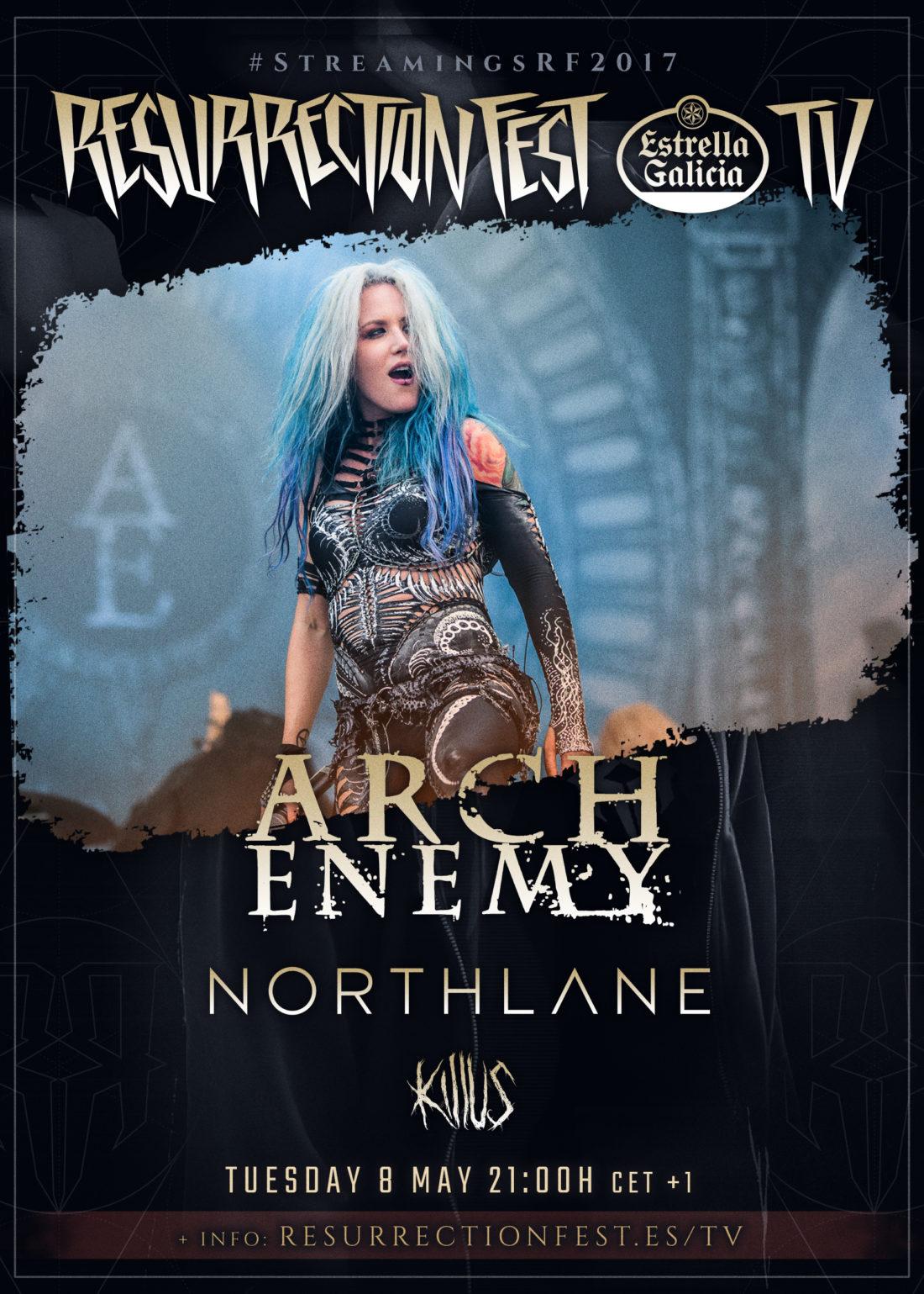 Nuevos conciertos en streaming de 2017: Arch Enemy, Northlane y Killus