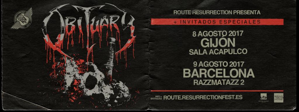 Route Resurrection Fest 2017 - Obituary - Event