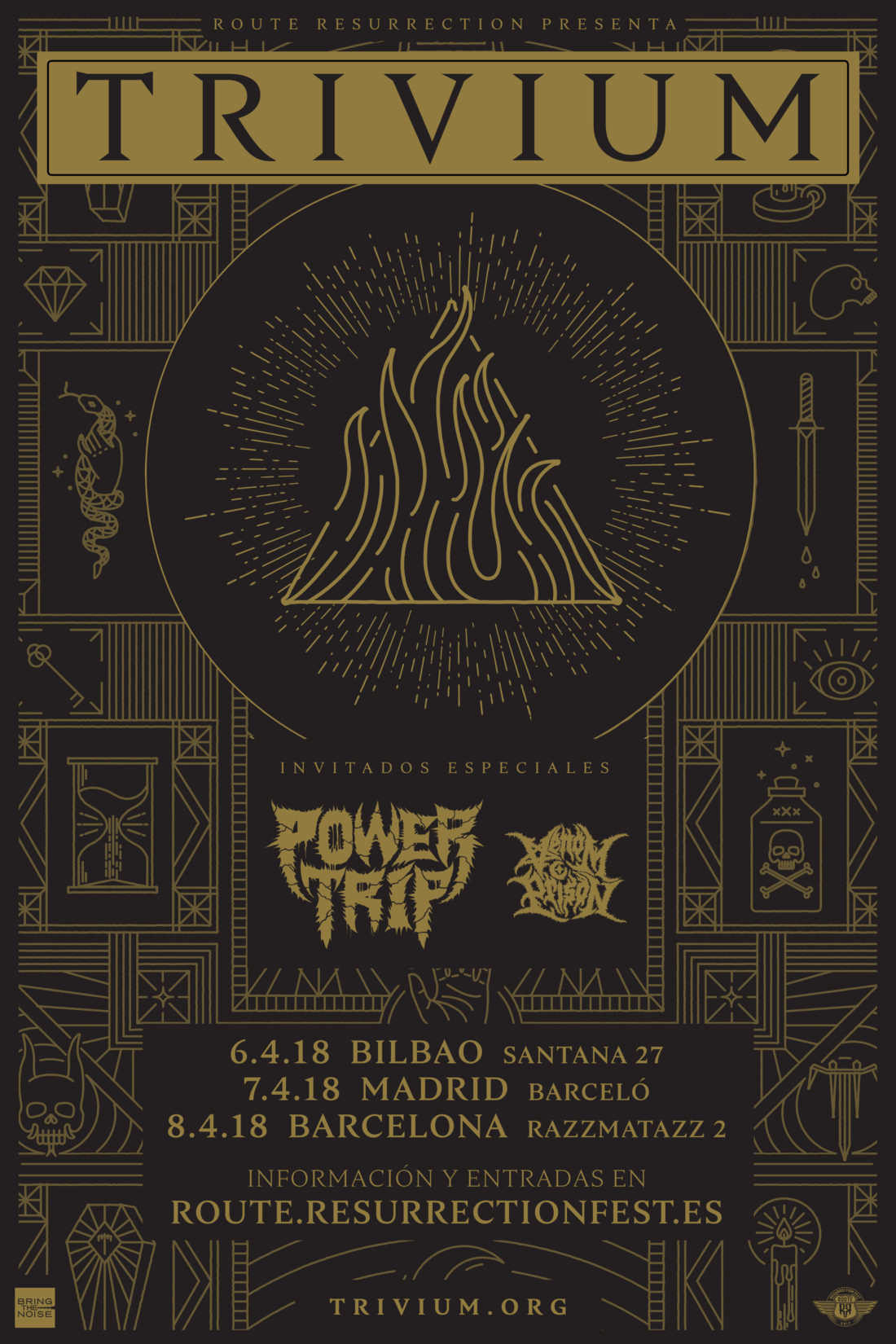 Nueva gira Route Resurrection: ¡Trivium regresan a España con nuevo disco!