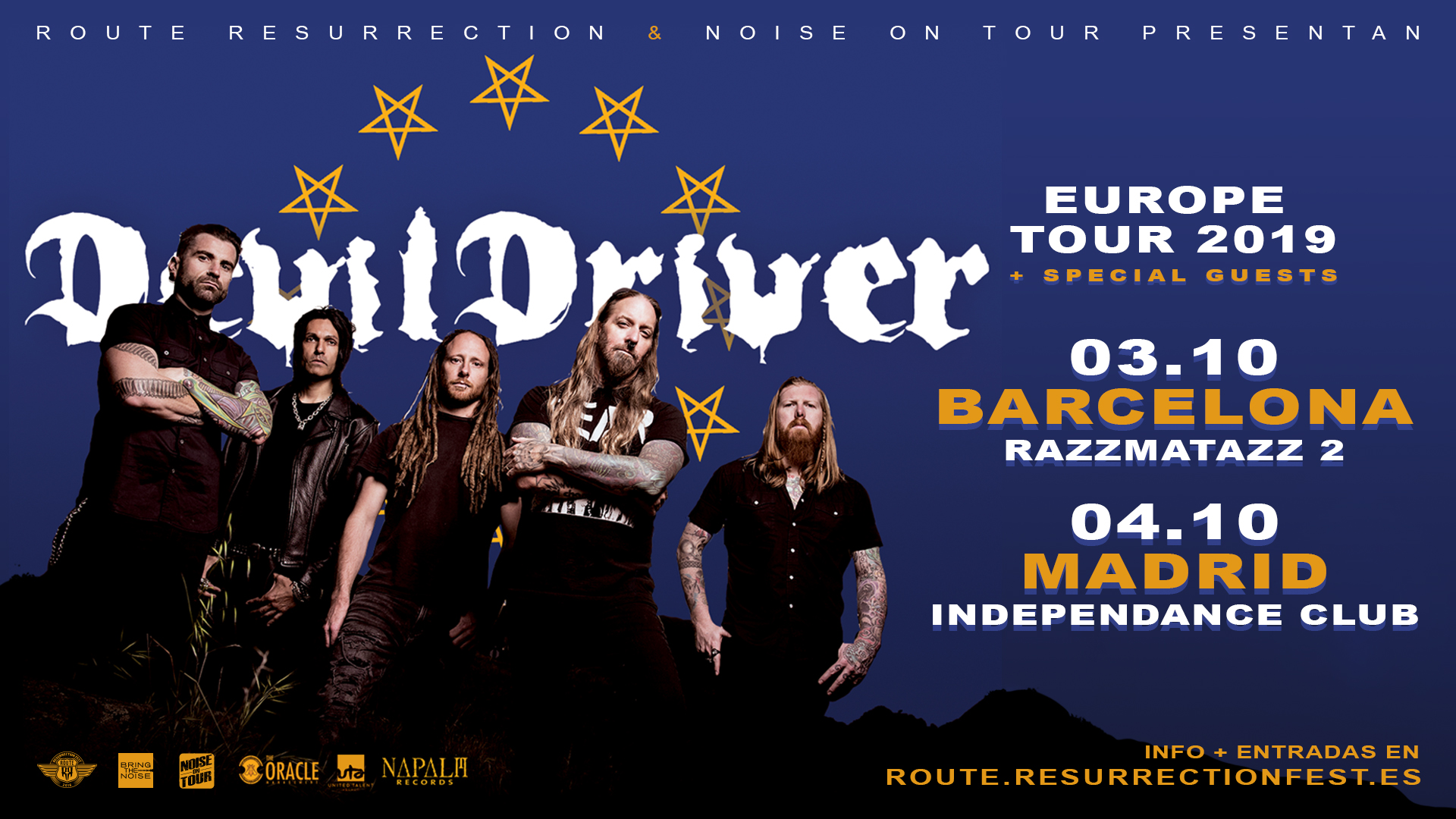 Route Resurrection Fest 2019 - DevilDriver - Event