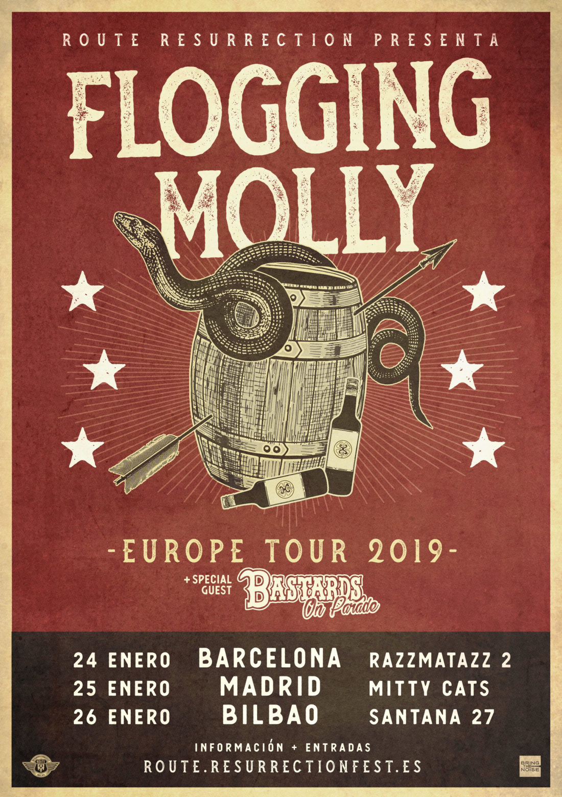Cambio de sala en Madrid y banda invitada para la gira de Flogging Molly: Bastards On Parade