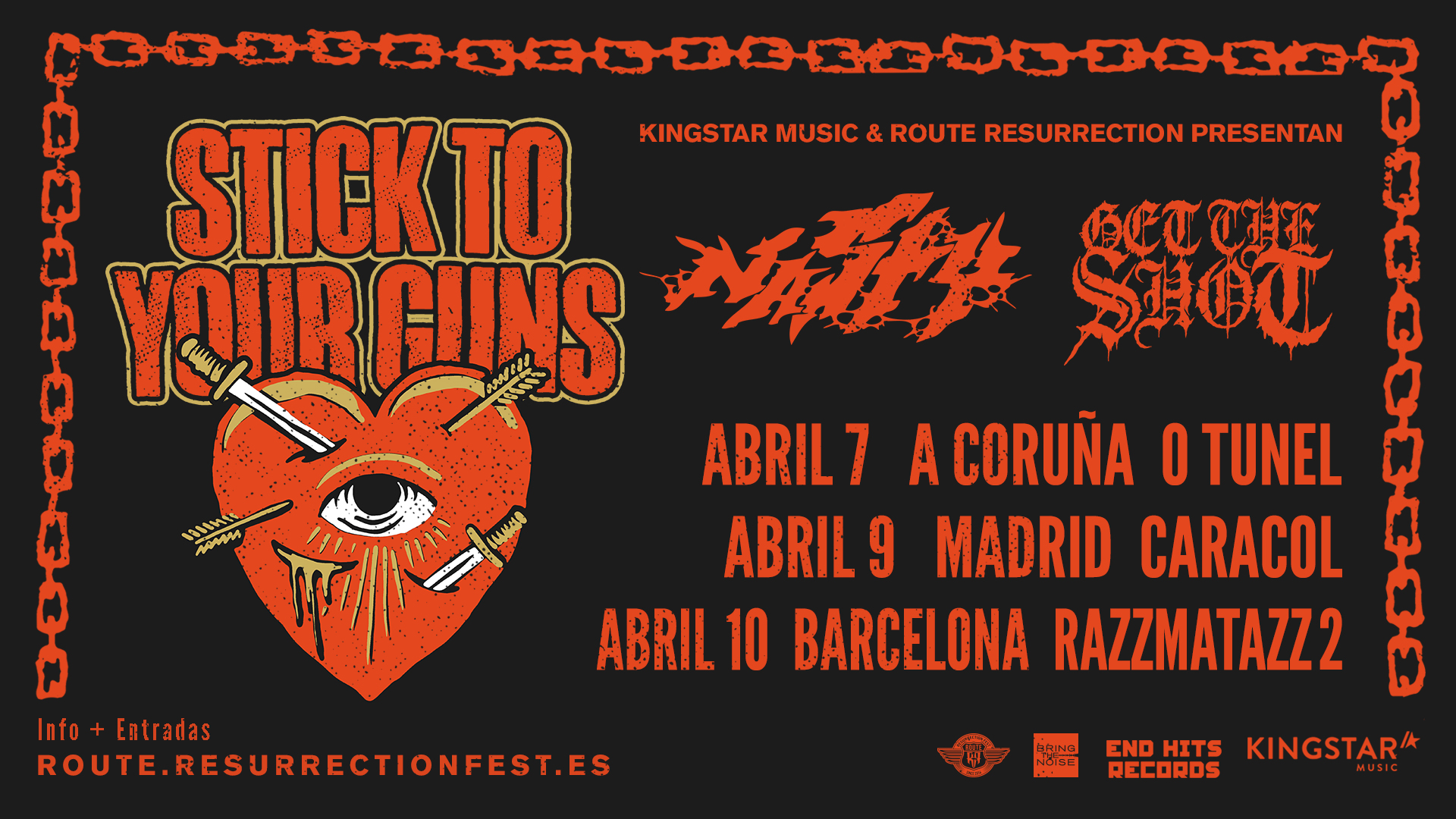 Route Resurrection Fest 2019 - Stick To Your Guns - Event