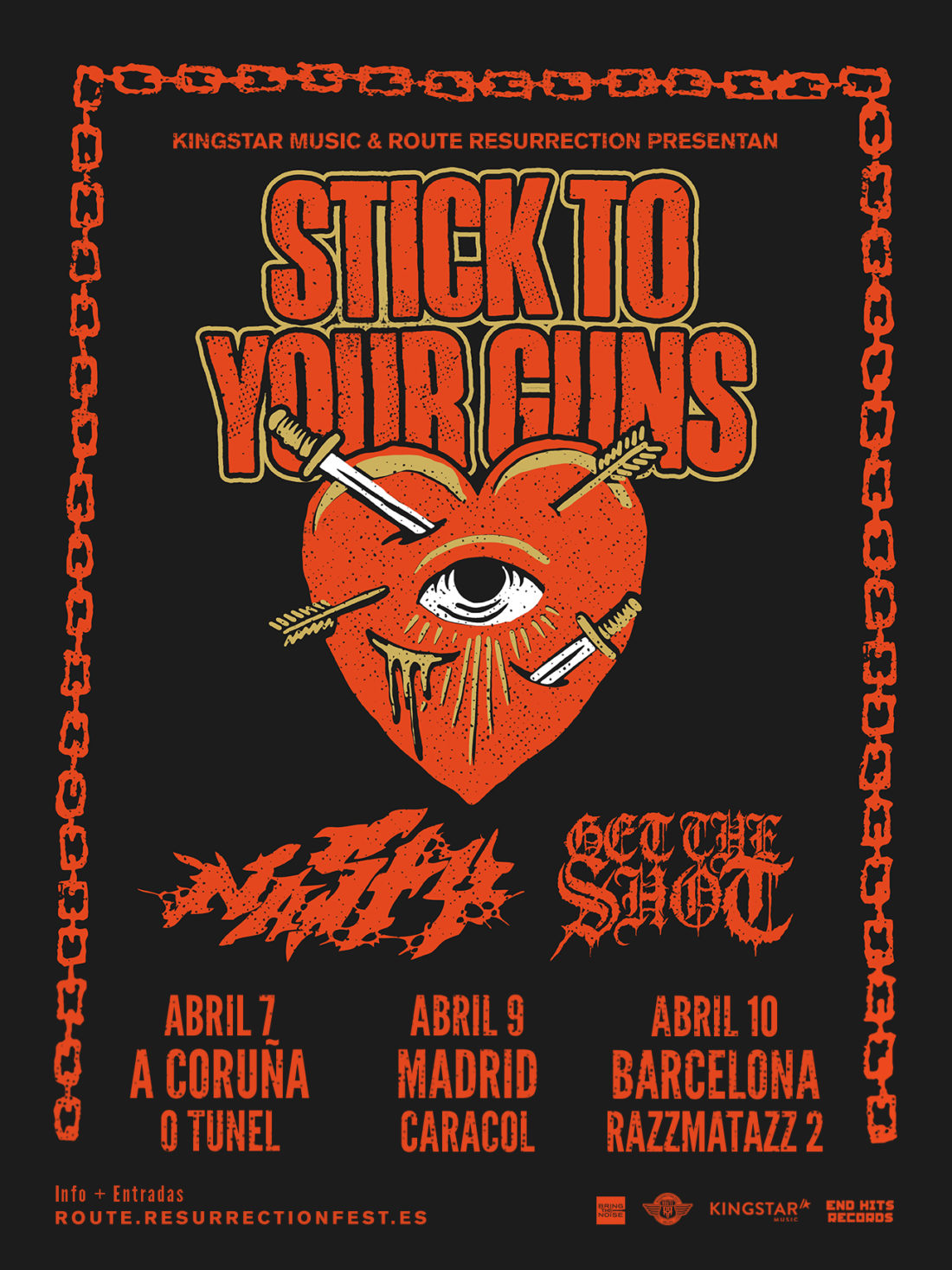 Nueva gira Route Resurrection: Stick To Your Guns