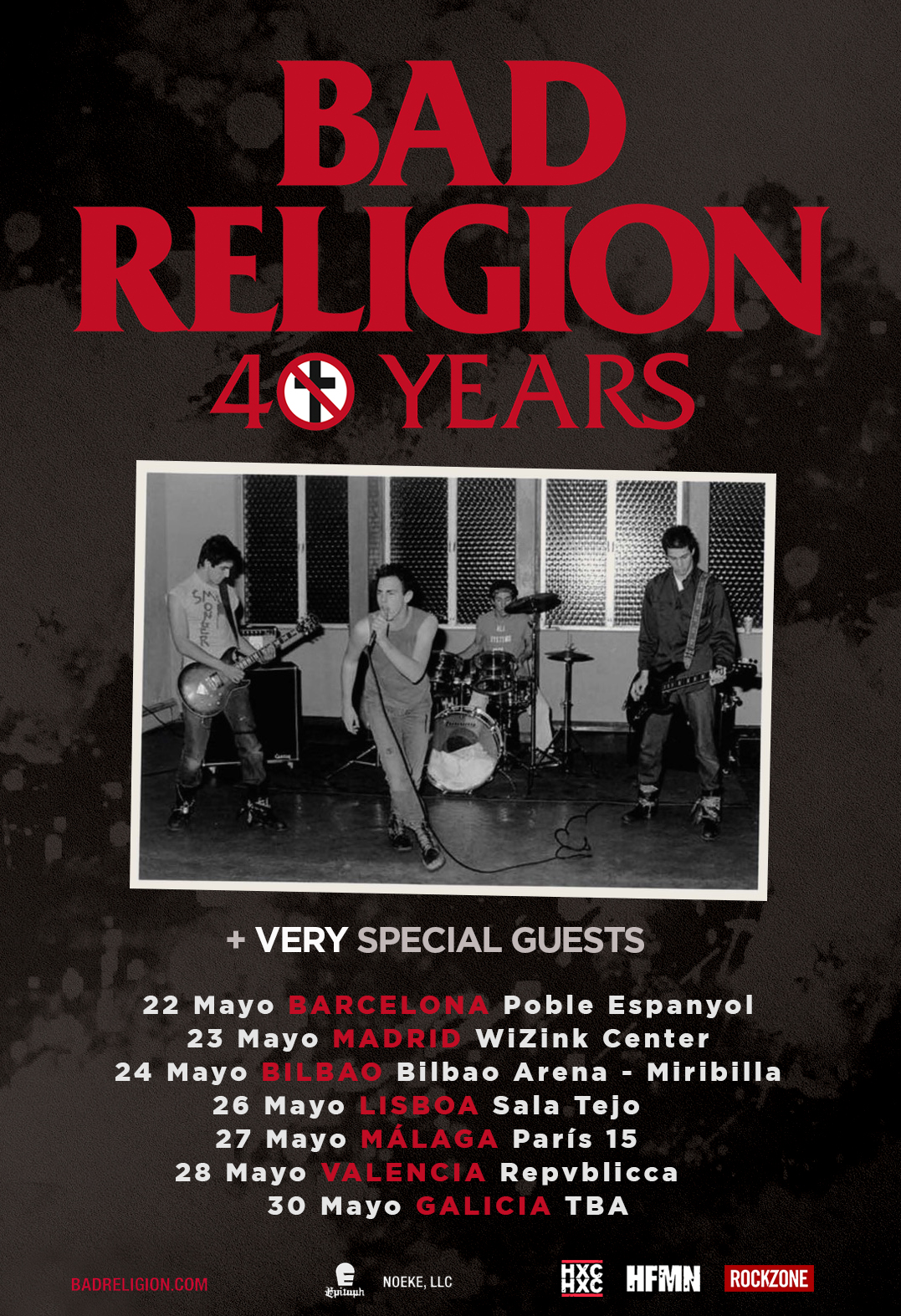 ¡Bad Religion celebrará su 40º aniversario en Galicia en un nuevo concierto Route Resurrection!