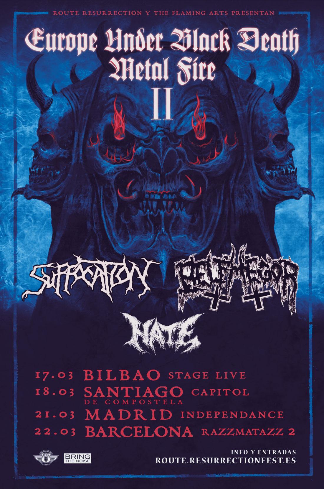 Nueva gira Route Resurrection: Suffocation y Belphegor de gira como cabezas de cartel