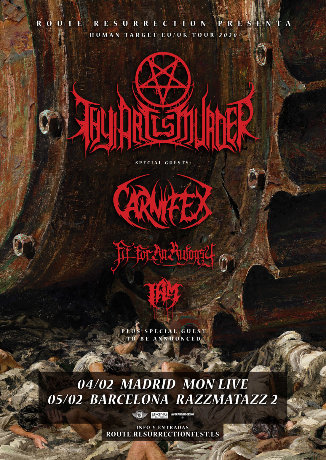 "Nueva gira Route Resurrection: Thy Art Is Murder vuelve a España para presentar su nuevo disco ""Human Target"""