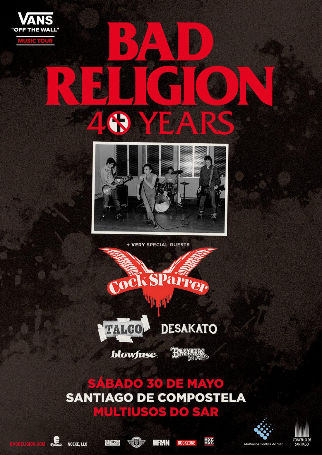 """Bad Religion visitará Santiago de Compostela dentro de su gira """"40 Years"""""""