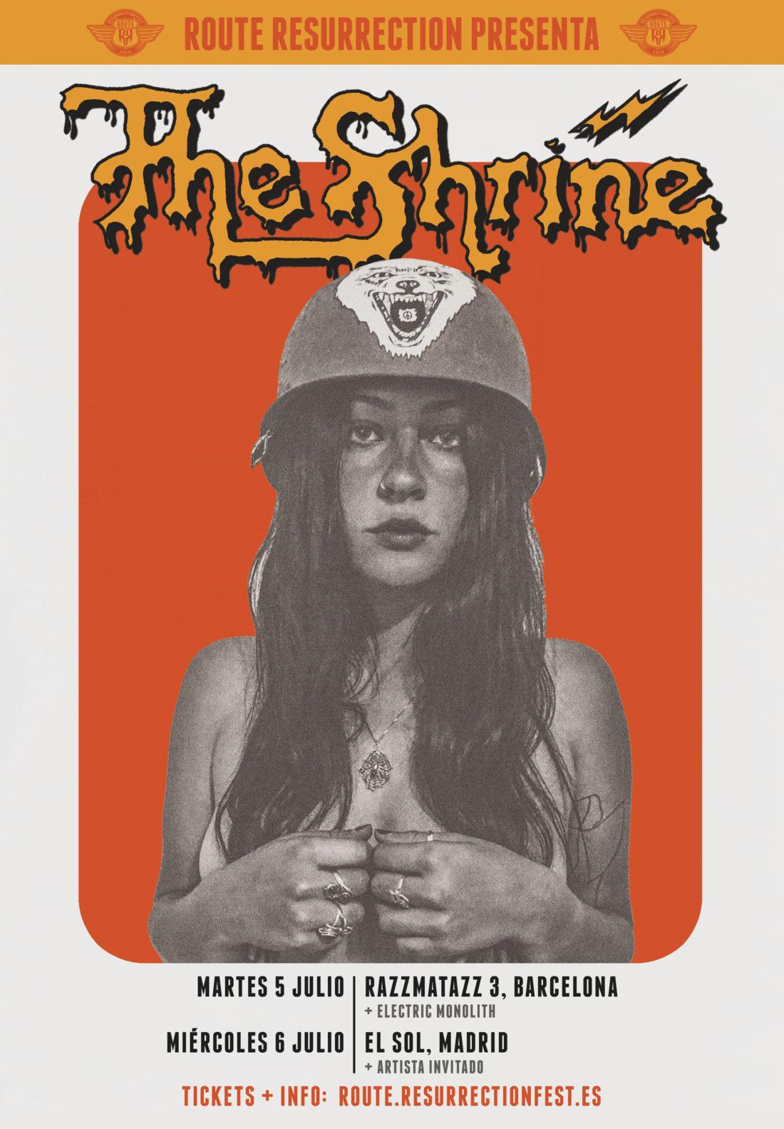 The Shrine de gira en Barcelona y Madrid (07/2016) Route-Resurrection-Fest-2016-The-Shrine-Poster-1100x1583
