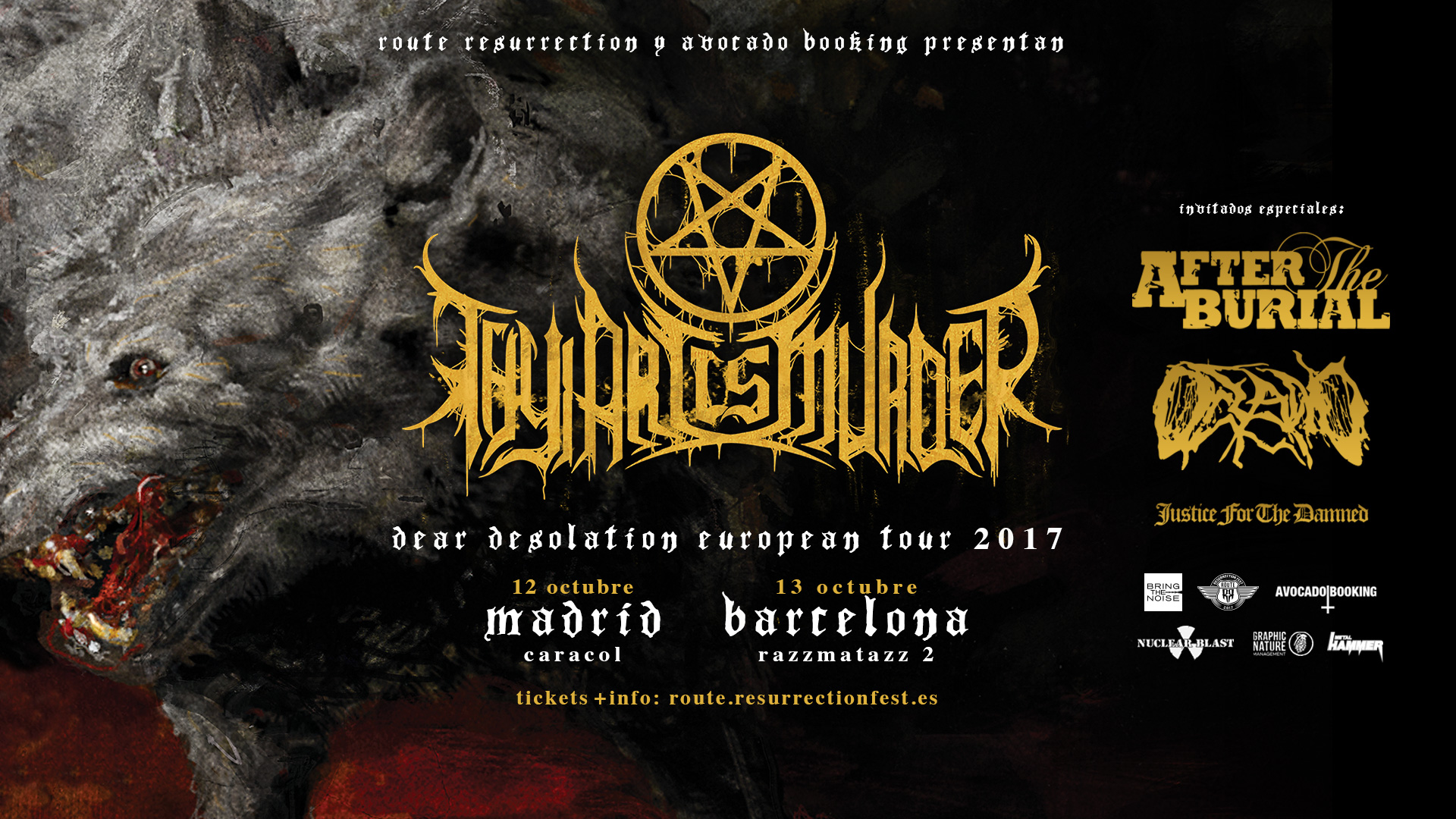 Route Resurrection Fest 2017 - Thy Art Is Murder - Event