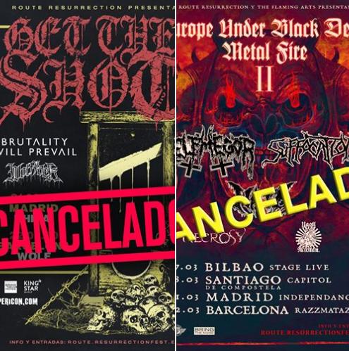 Giras de Suffocation + Belphegor y Get The Shot canceladas