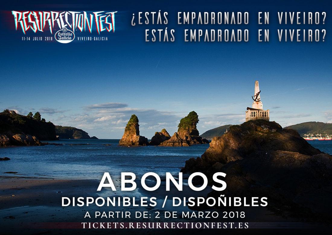 Entradas con desconto dispoñibles para os censados en Viveiro para o Resurrection Fest Estrella Galicia 2018