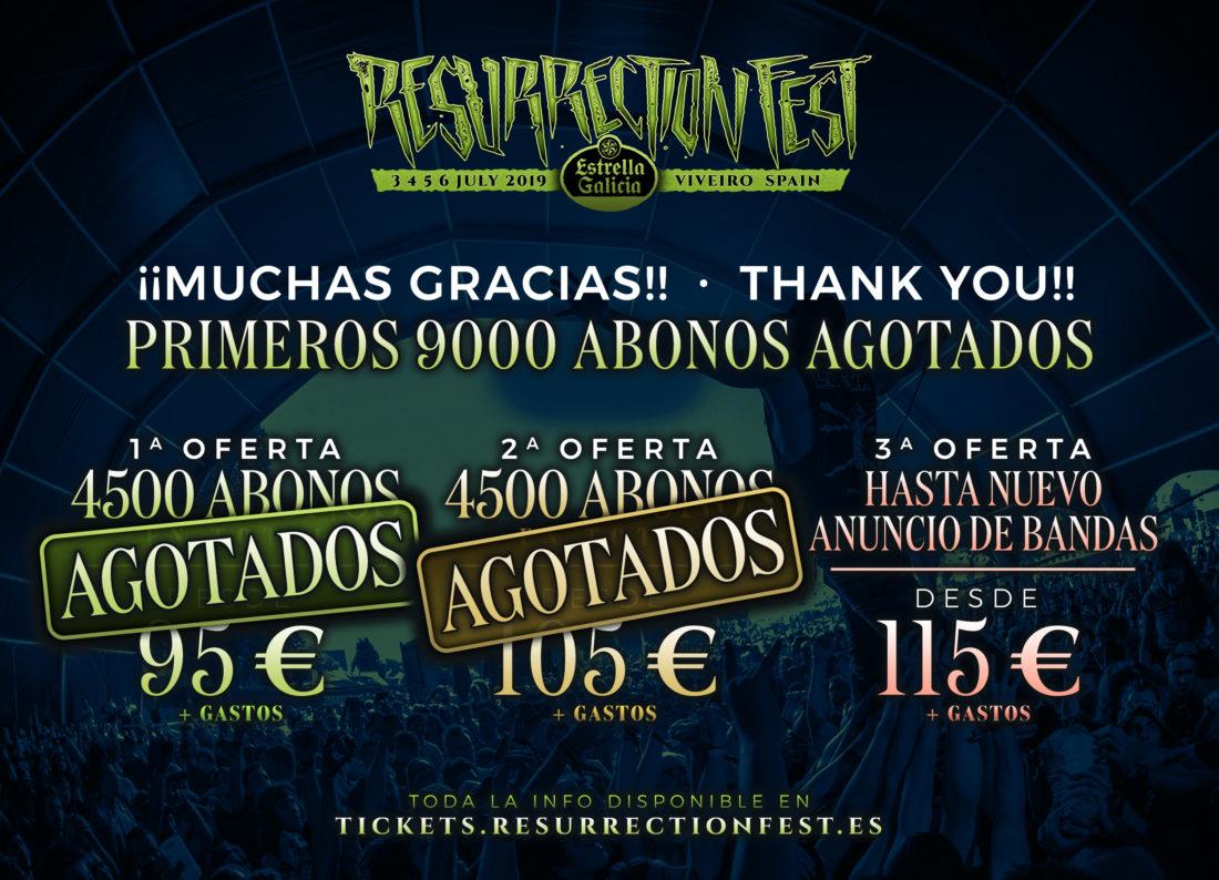 9000 abonos para el Resurrection Fest Estrella Galicia vendidos en hora y media, ¡gracias!