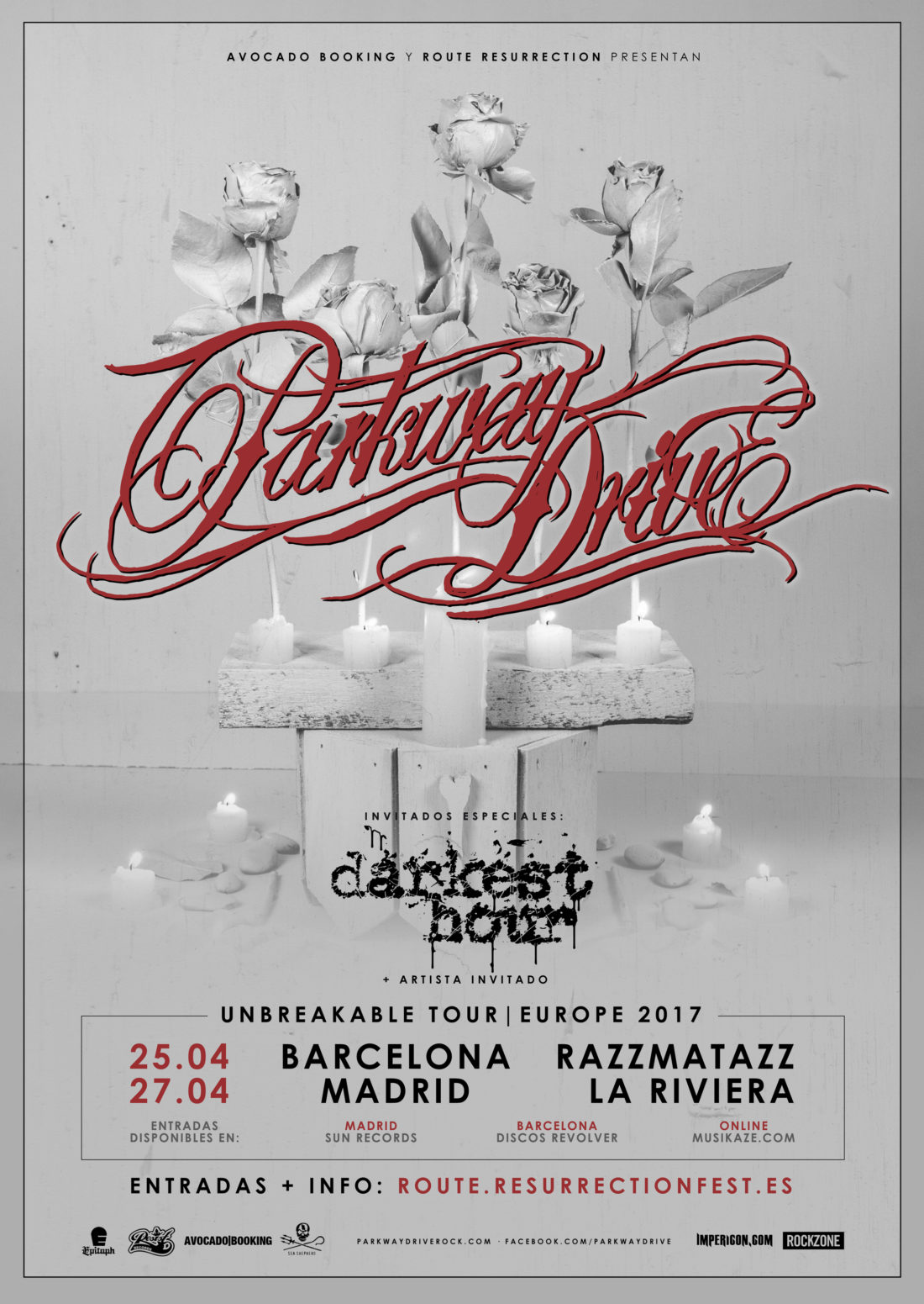 Nuevo gira Route Resurrection: Parkway Drive